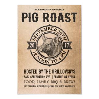 Vintage Schwein-Braten-Einladungen 12,7 X 17,8 Cm Einladungskarte