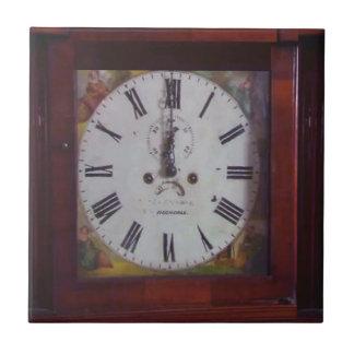 Vintage Schweizer Tangrenze Entwurf der Wand-Uhr Keramikfliese