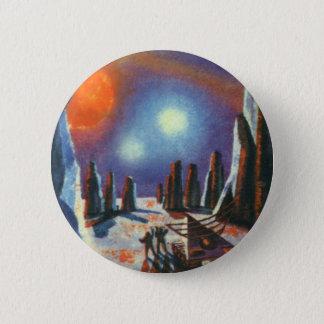 Vintage Science Fiction-fremder Planet mit Runder Button 5,1 Cm
