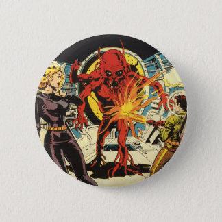 Vintage Science Fiction, Sci FI-alien-Angreifen Runder Button 5,1 Cm