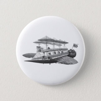 Vintage Science Fiction Steampunk Runder Button 5,7 Cm