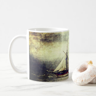 Vintage Segeln-Schiffs-Tasse Kaffeetasse