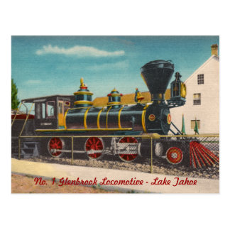 Vintage sich fortbewegende Postkarte