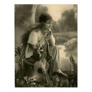 Vintage Sinti und Roma-Postkarte Postkarte