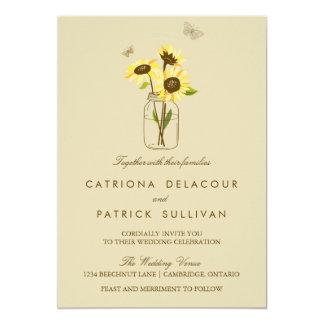 Vintage Sonnenblumen auf 12,7 X 17,8 Cm Einladungskarte