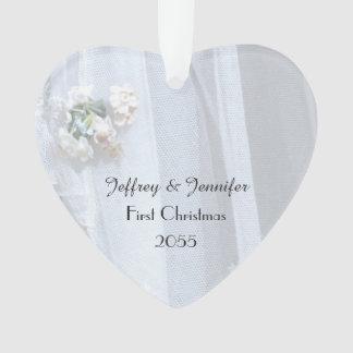 Vintage Spitze-Hochzeits-Herz-Verzierung, Ornament