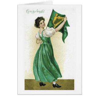 Vintage St Patrick Tageskarte Karte