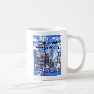 Vintage Stadt des Reiseplakat Times- Squaren Y Kaffeetasse