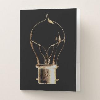 Vintage Steampunk Kunst beleuchtete Glühlampe Mappe