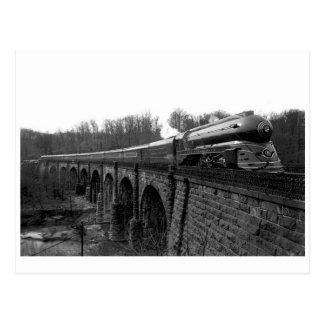 Vintage stromlinienförmige postkarte