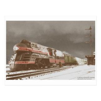 Vintage stromlinienförmige postkarten