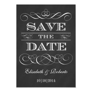 Vintage Tafel-elegante alte Art Save the Date 12,7 X 17,8 Cm Einladungskarte