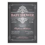 Vintage Tafel-Mädchen-Baby-Duschen-Einladung