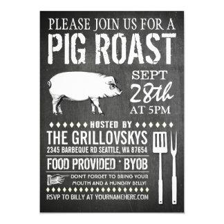 Vintage Tafel-Schwein-Braten-Einladung 12,7 X 17,8 Cm Einladungskarte