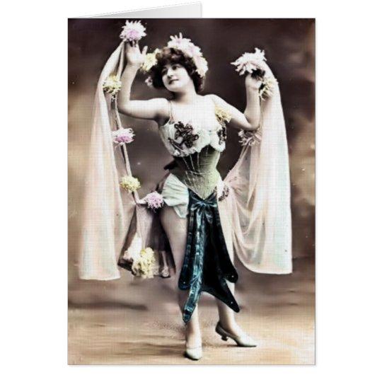 Vintage Tänzer-Karte Grußkarte