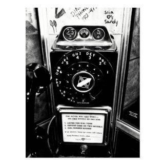 Vintage Telefon-Stand-Postkarte Postkarte