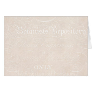 Vintage Text-Botaniker-Pergamentpapier-Schablone Karte