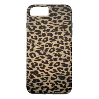Vintage Tierbeschaffenheit des Leoparden iPhone 8 Plus/7 Plus Hülle