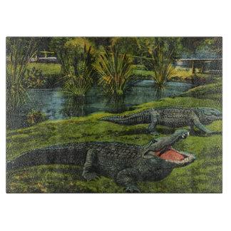 Vintage Tiere, Marinelebens-Reptilien, Krokodile Schneidebrett