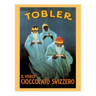 Vintage Tobler Schokoladen-Anzeige Postkarte