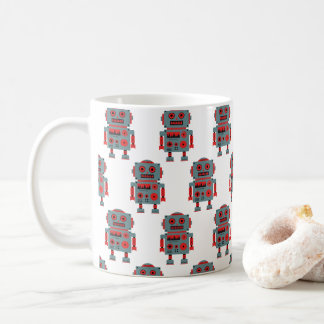 Vintage Toy robots sur une tasse à café