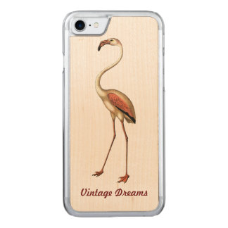 """Vintage Traum-"" - Flamingo Carved iPhone 8/7 Hülle"