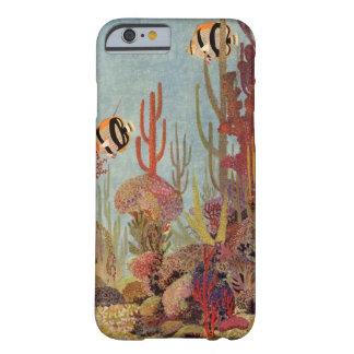 Vintage tropische Fische und Koralle im Ozean Barely There iPhone 6 Hülle