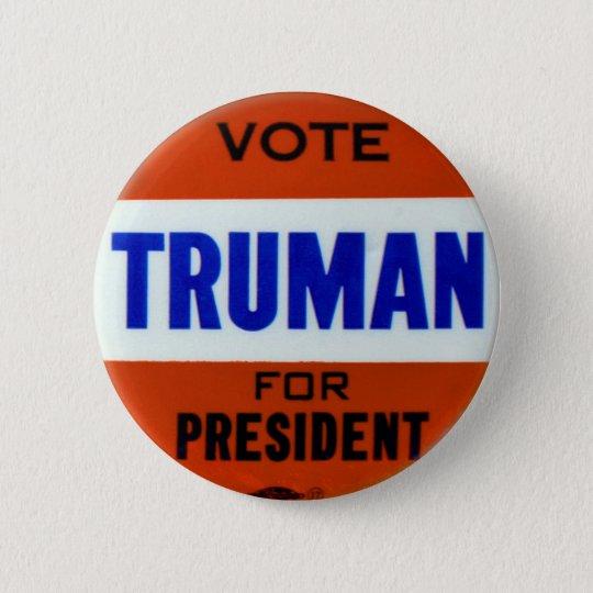 Vintage Truman-Kampagnen-Knopf-Abstimmung für Runder Button 5,7 Cm