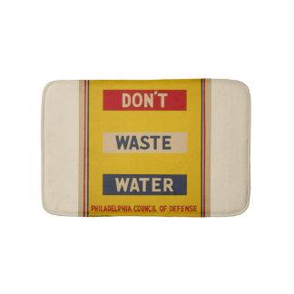 """Vintage """"tun nicht Abwasser-"""" Badematte"""