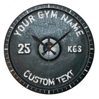 Vintage Turnhallen-Inhaber-oder Benutzer-Fitness Große Wanduhr
