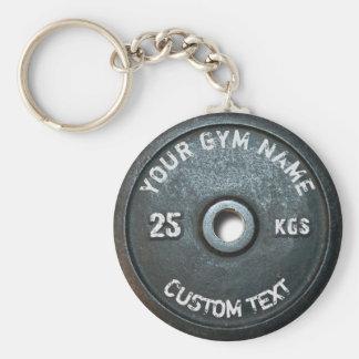 Vintage Turnhallen-Inhaber-oder Benutzer-Fitness Schlüsselanhänger