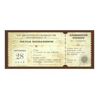 Vintage Typografiegeburtstagskarten 10,2 X 23,5 Cm Einladungskarte
