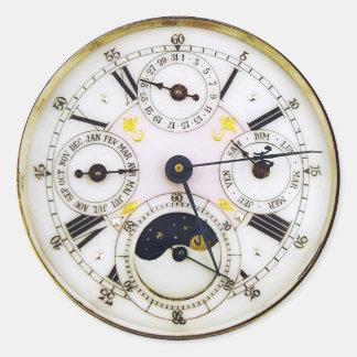Vintage Uhr-Antiken-Taschen-Uhr Runder Aufkleber