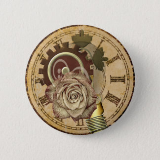 Vintage Uhr-Collage Runder Button 5,7 Cm