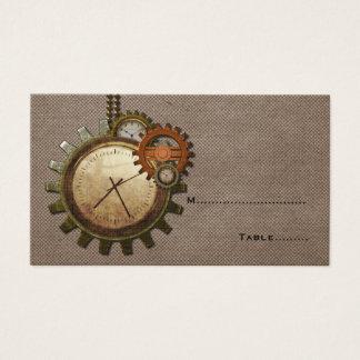 Vintage Uhr-Platzkarte, Mokka Visitenkarte