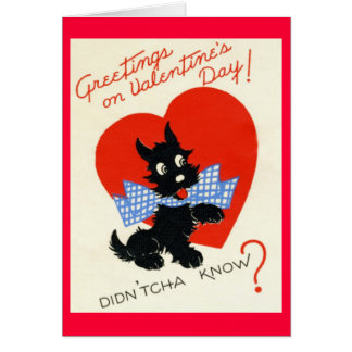 Vintage - Valentine - DIDN'TCHA WISSEN? Karte