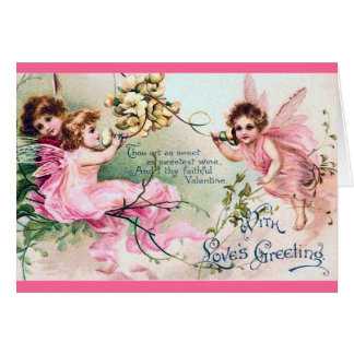 Vintage Valentine-Fee-Karte Karte