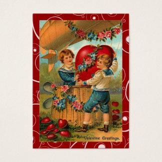 Vintage Valentine-Lieferungs-Liebe-Anmerkungen Visitenkarte