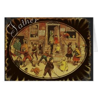Vintage Vatertagskarte Grußkarte