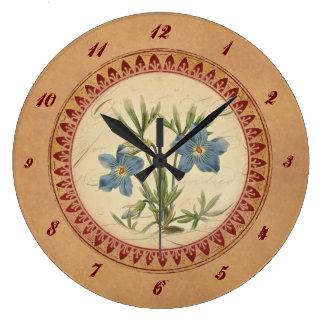 Vintage Veilchen-Uhr Große Wanduhr