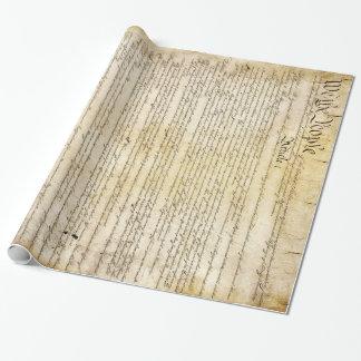 Vintage Verfassung der Vereinigten Staaten Geschenkpapier