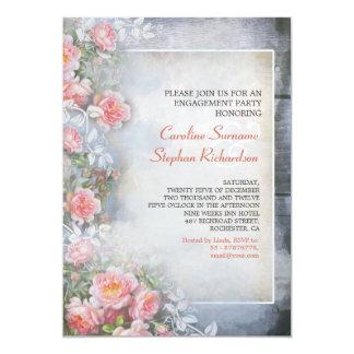 Vintage Verlobungs-Party Einladungen der rosa
