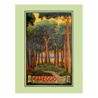 Vintage Viareggio italienische Reisewerbung Postkarte