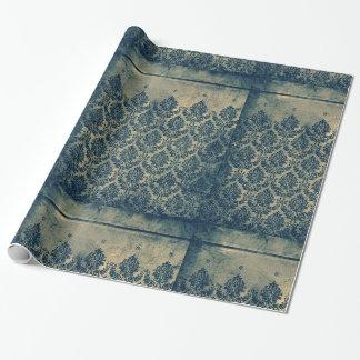 Vintage viktorianische Damast-Blatt-Tapeten-Grenze Geschenkpapier