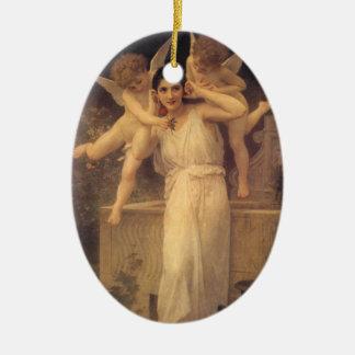 Vintage viktorianische Engel, Jugend durch Keramik Ornament