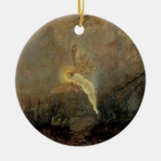 Vintage viktorianische Fee, Hochsommer-Nacht, Keramik Ornament