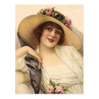 Vintage viktorianische Frau 1900's Postkarten
