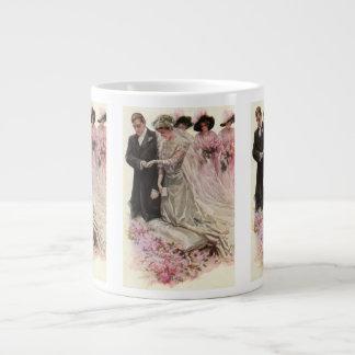 Vintage viktorianische Hochzeits-Zeremonie Braut- Jumbo-Tasse