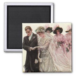 Vintage viktorianische Hochzeits-Zeremonie, Quadratischer Magnet