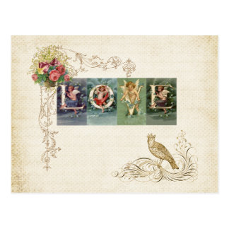 Vintage viktorianische Liebe Postkarte